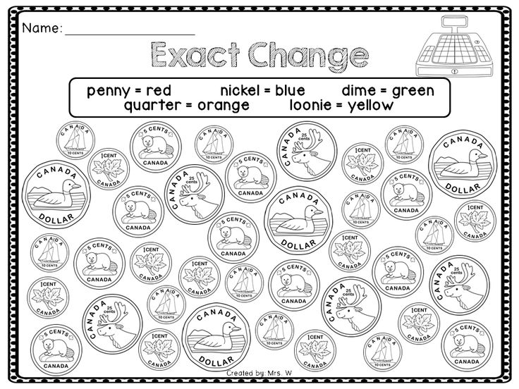Canadian Money Activities and Worksheets - Counting Coins To $1.00