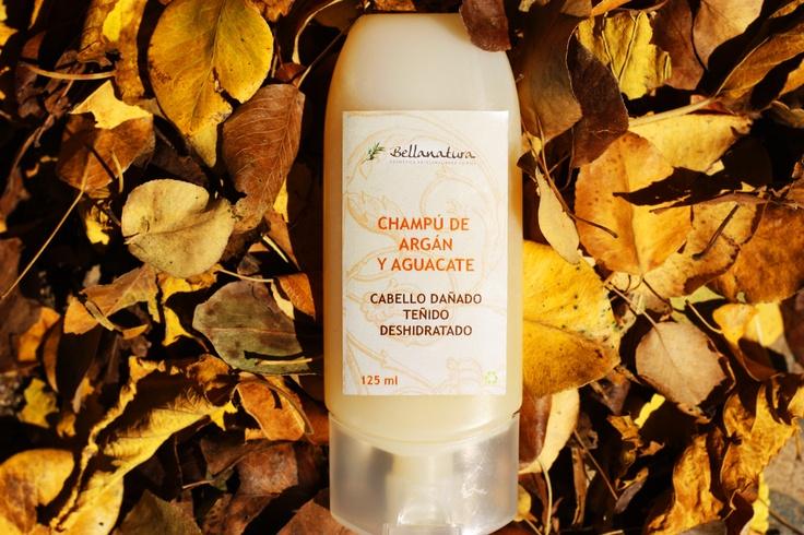 Natural Argan Shampoo. (For damaged Hair)  Champú Natural de Argán. (Cabellos dañados o teñidos)