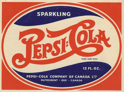 Pepsi-Cola - Canadian bottle label - 1940's by JasonLiebig, via Flickr