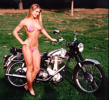 Girl On An Old Motorcycle Post Your Pics Page 1022