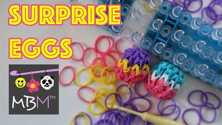Make Your Own 3D Easter Surprise Eggs on the Rainbow Loom