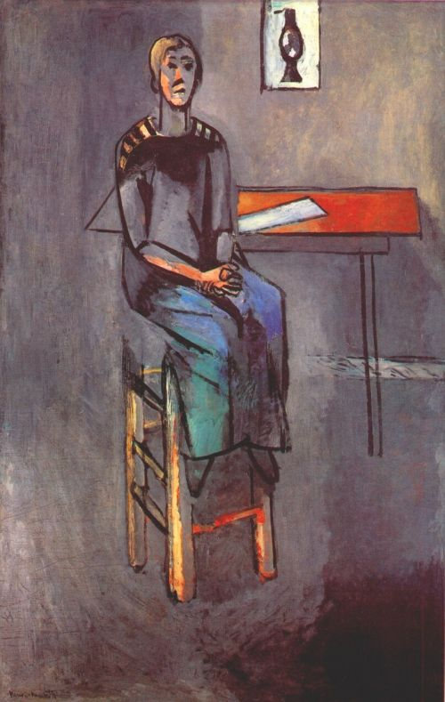 Henri Matisse Woman on a High Stool (Germaine Raynal) Paris, quai Saint-Michel, early 1914. (MOMA, NYC)