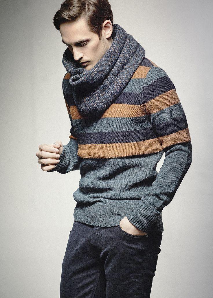 Frost crew neck sweater (baby alpaca wool blend), Faulkner tube neck, Adams velour pants. In stores in August.