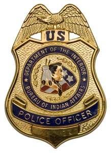 Bureau of Indian Affairs police badge