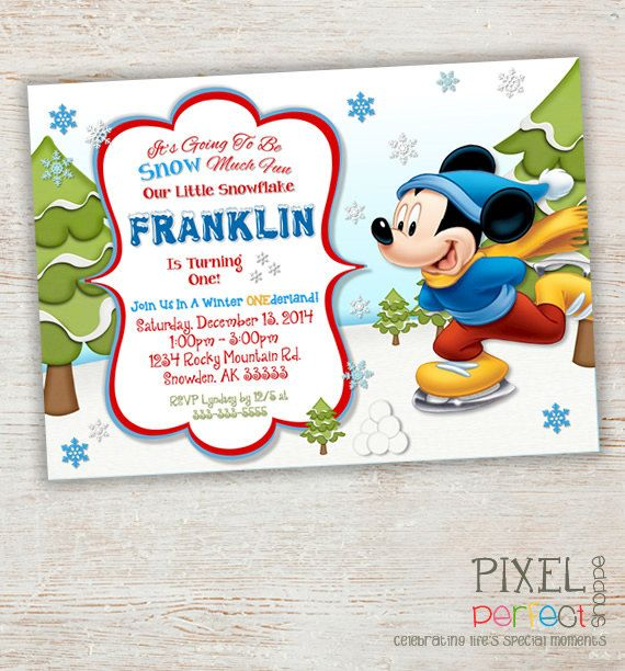 ANY AGE Mickey Mouse Birthday Invitation By PixelPerfectShoppe