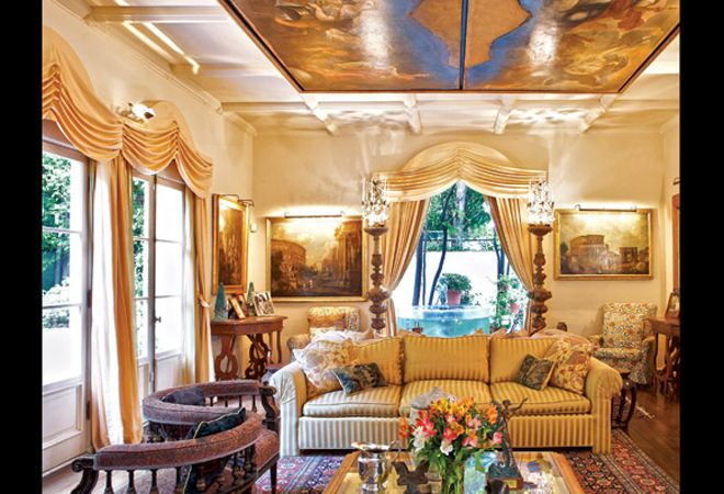 Interior Of Gore Vidal S Home In The Hollywood Hills All