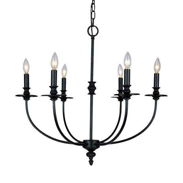 Landmark Lighting Hartford Chandelier In Oil Rubbed