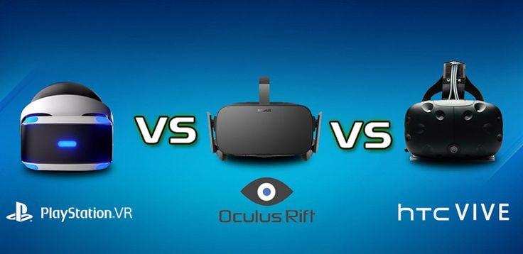 Casques de réalité virtuelle Oculus Rift, HTC Vive, Playstation VR