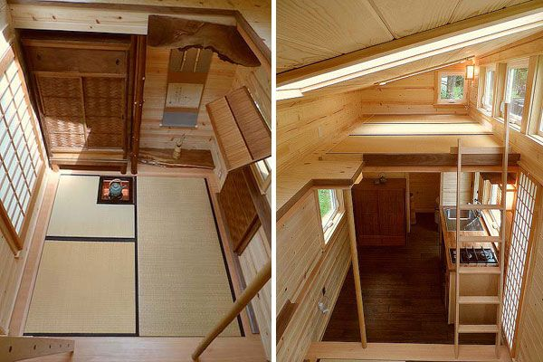 It's a beautiful little tea house-inspired tiny house. Based on the Alsek design.
