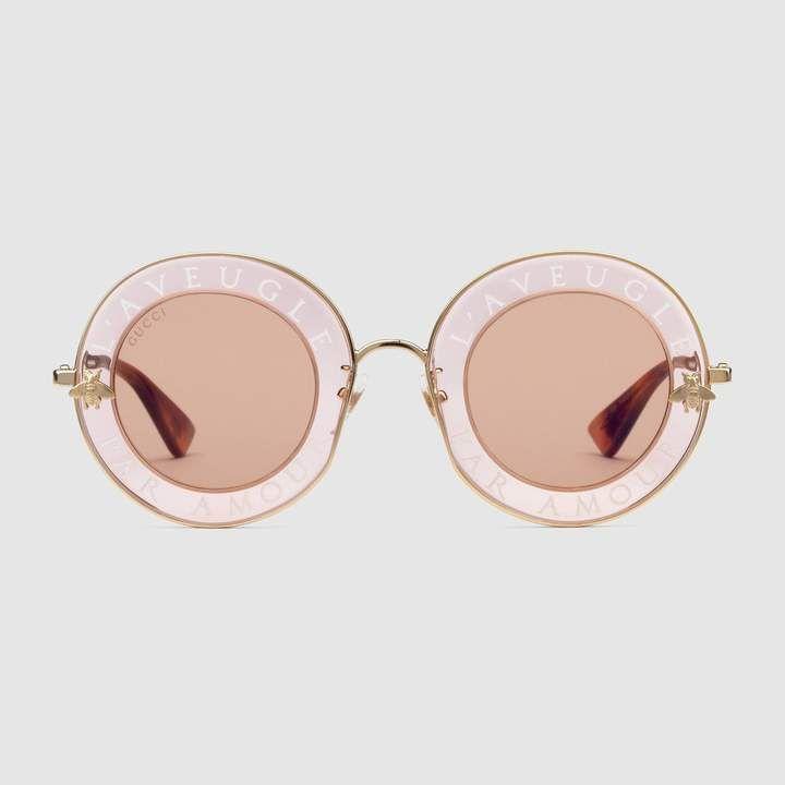 cba26e82faa Bold Sunglasses  Gucci - Round-frame metal sunglasses.  sunglasses  Gucci