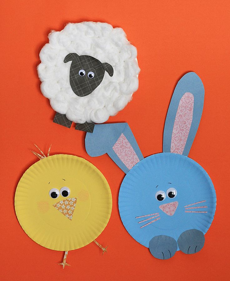 Paper Plate Easter Characters on kixcereal.com