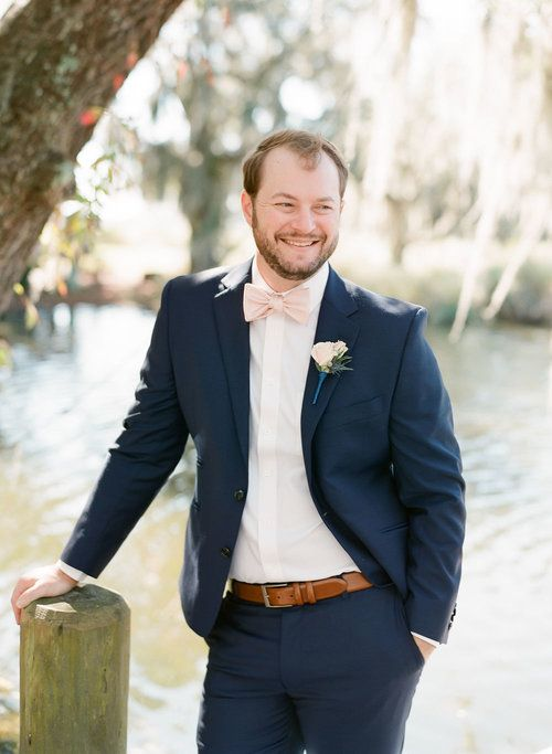 A South Carolina Wedding At Oldfield Club A Lowcountry Wedding Blog Magazine Charleston Savannah Hilton Head Myrtle Beach Groom And Groomsmen Attire Groom Suit Navy Navy Groomsmen Suits