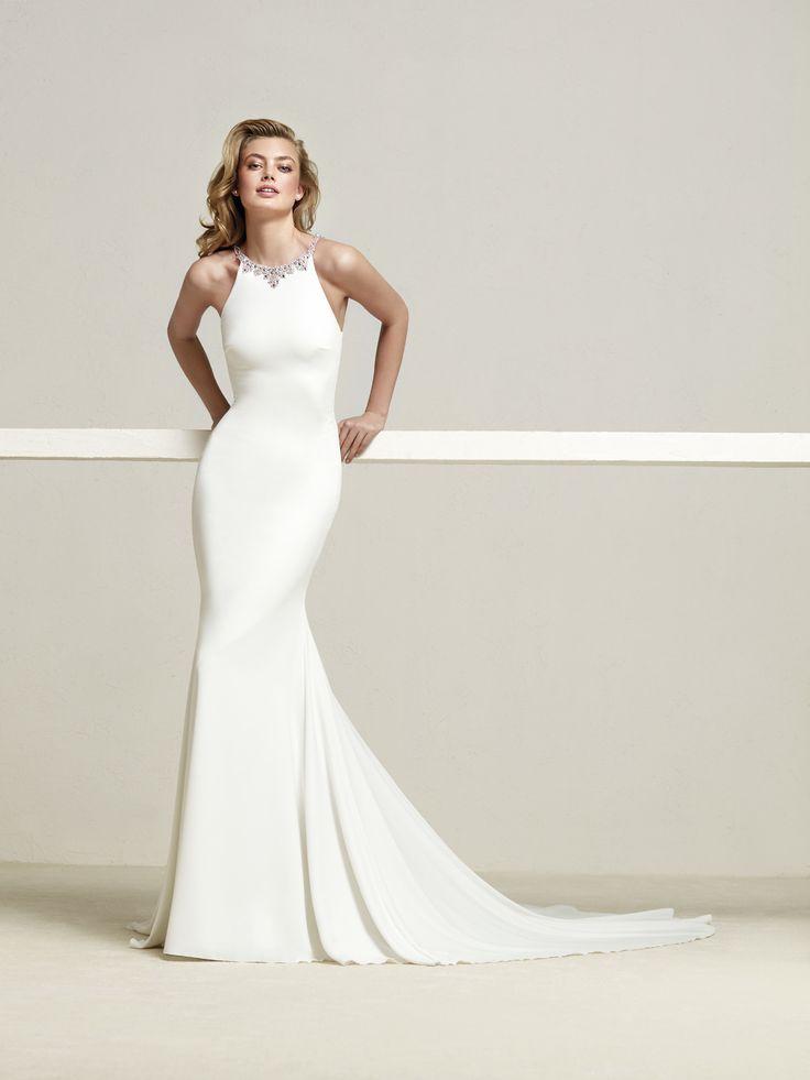Vestido de novia espalda pedrería - Dreba
