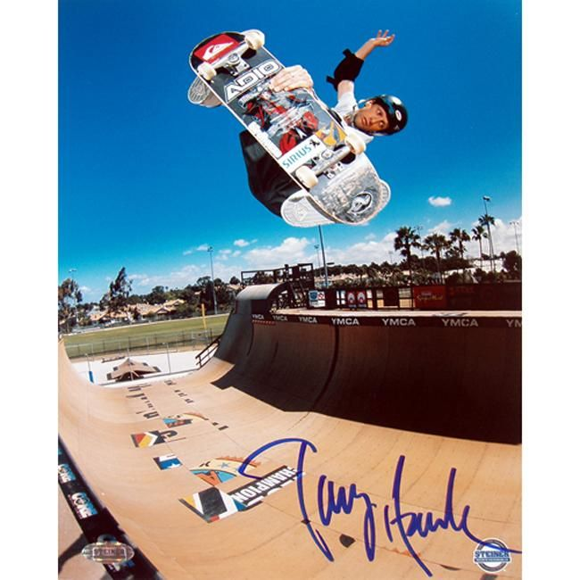 Steiner Tony Hawk Half Pipe Action in 16x20 Autographed Photo
