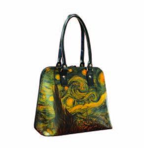 Ručne maľovaná kabelka 8573 inšpirovaná motívom Vincent Van Gogh