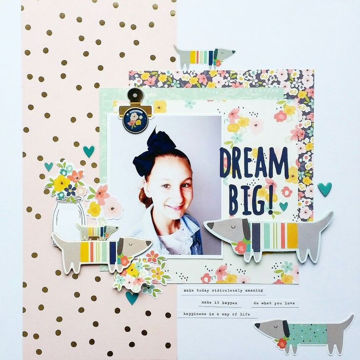 Dream Big layout by Amanda Baldwin featuring Simple Stories Posh collection for #sketchysaturday with @paperissues