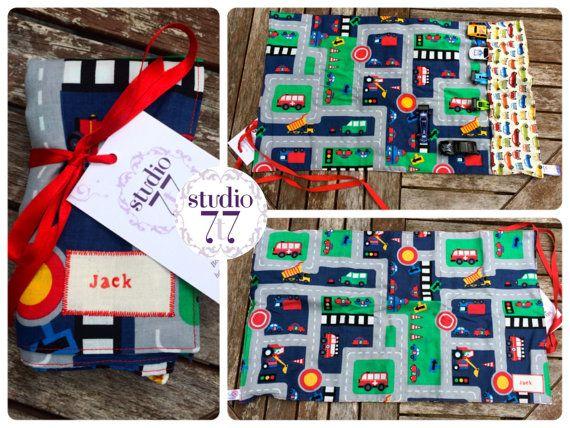 TOY CAR MAT children's road play mat toy car play mat by Studio7t7