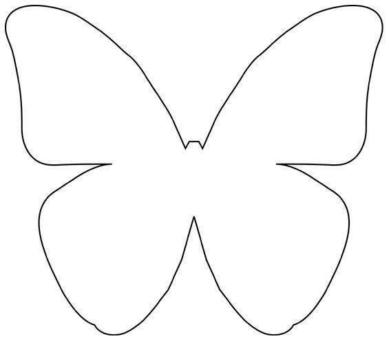 Kartinki Po Zaprosu Raskraska Siluet Babochka Butterfly Template Butterfly Outline Paper Butterflies