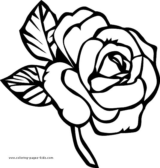 flower page printable coloring sheets page flowers coloring pages color plate coloring - Printable Color