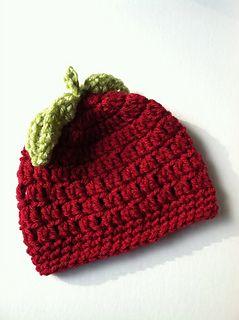 Red Apple Crochet Baby Hat ~ free pattern