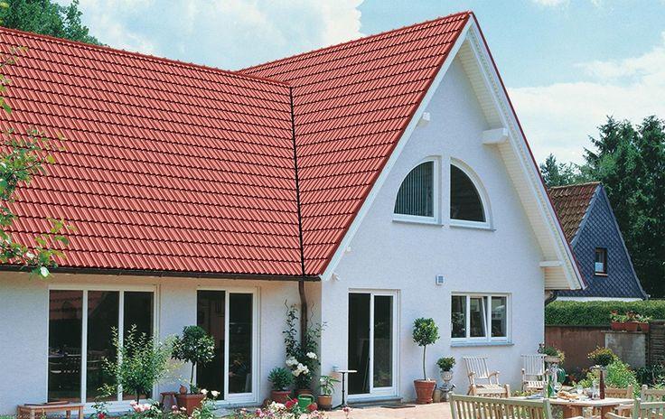 Dachziegel BRASS, Serie Granat 11 V, Oberfläche Matt, Farbe Lava Rot (Edelengobe)