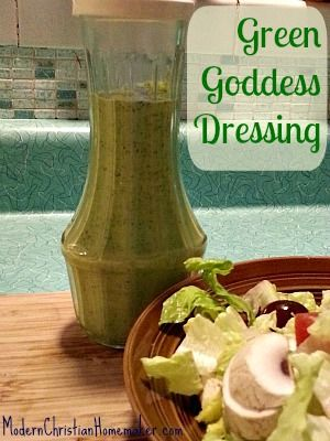 Green Goddess Dressing ~ An Old Favorite Rediscovered I remember as a kid my mom making Green Goddess Dressing. I always thought it an odd dressing, adding a creamy green mix to a green salad and all. It wasn't until recently that I thought to make it for my own kids. I was talking to some friends and asked them what salad dressings they loved. Someone brought up Green Goddess Dressing that they buy in the grocery store. I knew  {Read More}
