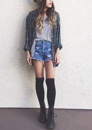 flannels + knee highs