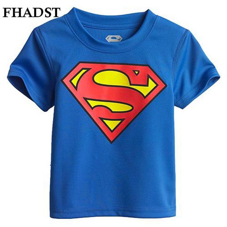2016 Summer Boys T Shirts 3 Pattern Style Superman Cartoon Menino Printing Short Children's T-Shirts Kids Boys Clothes Child Tee //Price: $US $2.85 & FREE Shipping //     #clothing