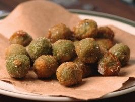 Fried Tuscan Olives: Recipe courtesy Gabriele Corcos and Debi Mazar, Cooking Channel Show: Extra Virgin