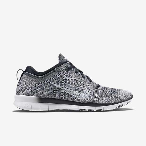 NIKE FREE TR 5 FLYKNITE SHOES IN BLACK/WOLF GREY/WHITE [FLY AS