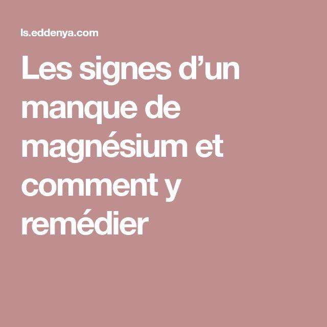 Les signes d'un manque de magnésium et comment y remédier