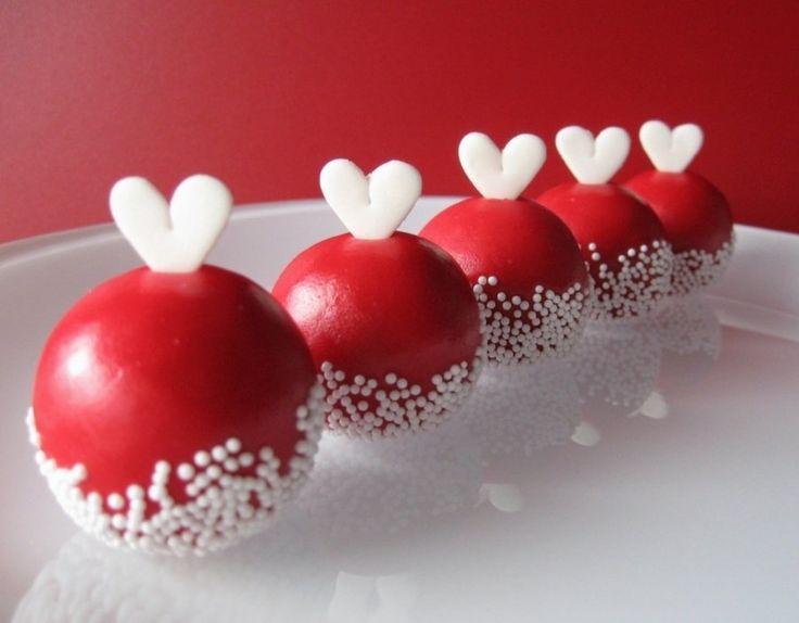 lovely red cake balls