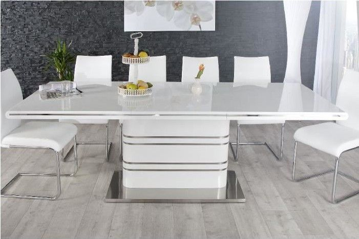Table De Repas Design Losane Extensible Blanc Pas Cher Table A