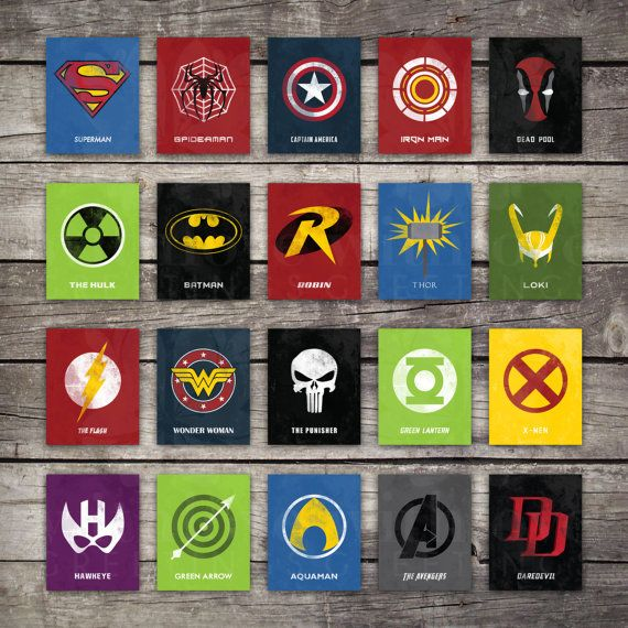 Choose Six Comic Book Hero Print Set