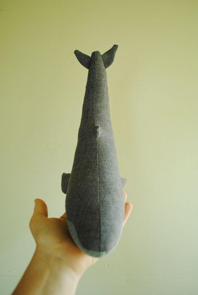 Blue whale soft toy sewing pattern / stuffed animal / sea creature / digital tutorial template DIY