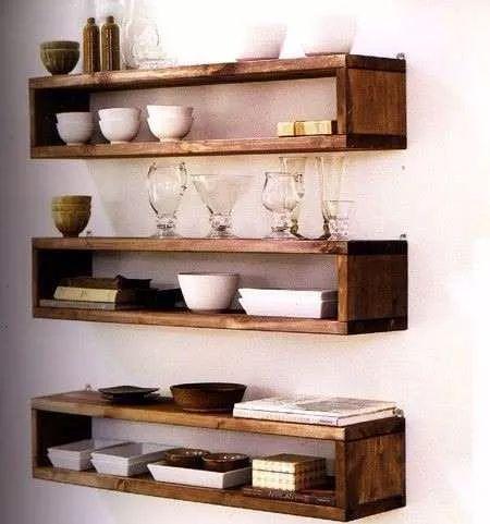 estantes flotantes 60cm x 14cm x 10cm ( set por tres)