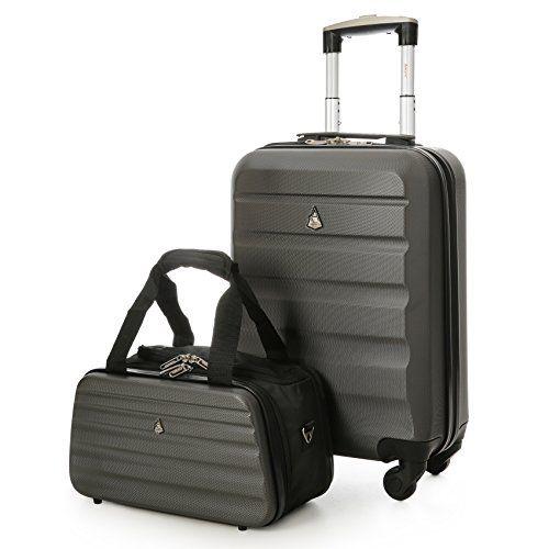 Aerolite léger abs rigide 4 roues spinner main valise bagage cabine