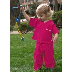 Hot Pink Personalized Kids Scrubs