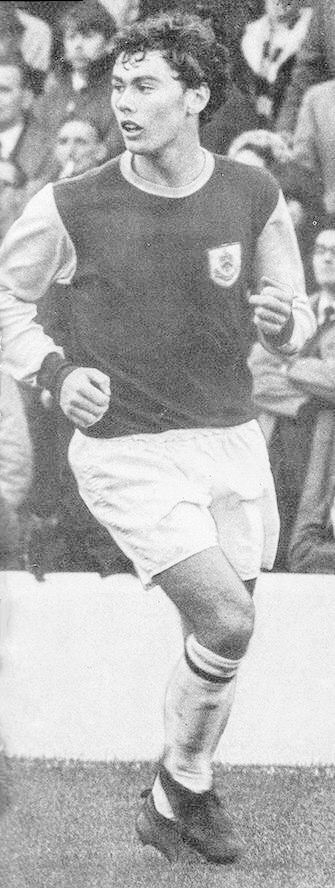 Dave Thomas of Burnley in 1968.