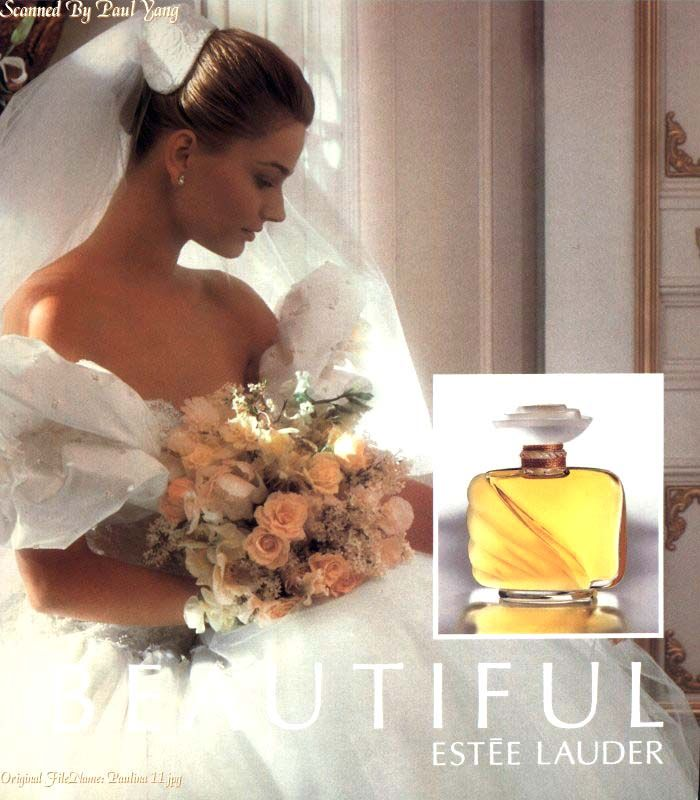 I fell in love with this perfume after these ads.  Paulina was always the epitome of a beautiful bride to me.