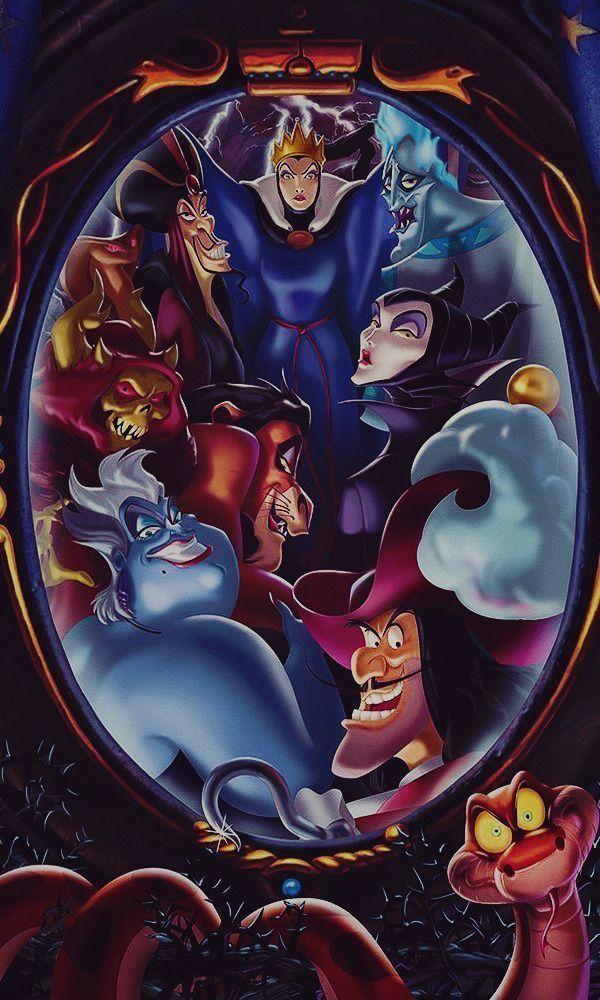 Disney S Villains Wallpaper As Iphone Background And Lockscreen In 2020 Disney Villains Art Evil Disney Disney Art