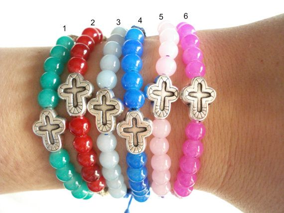 10pcs Martirika bracelets Baby shower favors Baptism by Poppyg