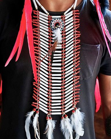 Indian Breastplate American Indian Costume - Medium Red - $39