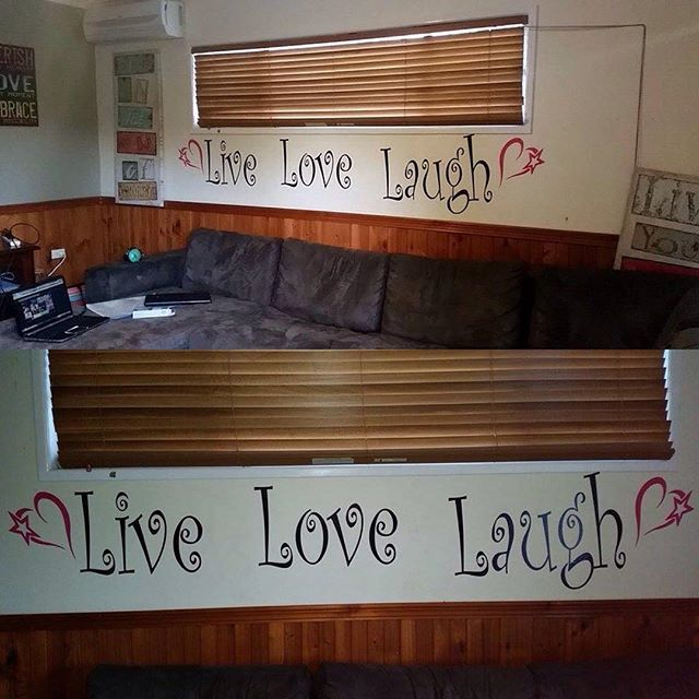 #custommade #stickers #live #love #laugh. #walldecal get when you #message me @ www.facebook.com/customcutvinylstickers