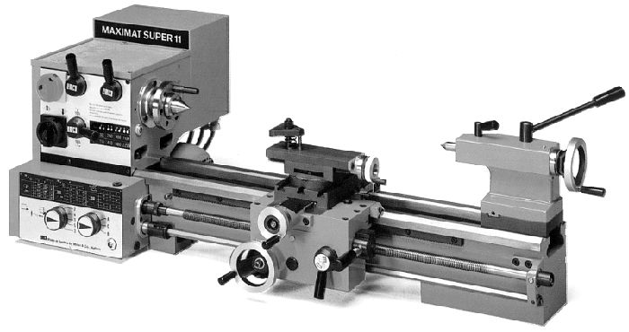 Emco Maximat Super 11 Lathe - Looks like South Bend cloned this and labeled it as the new Heavy 10
