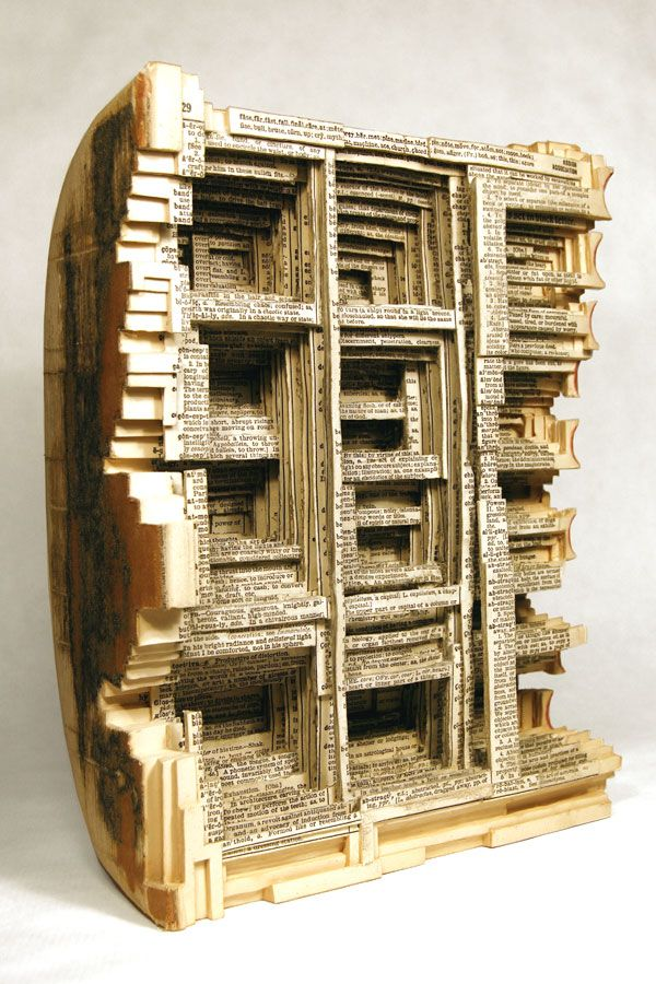 """Fate Far Fast Fall Final, 2009, Altered Book, 11"""" x 8-1/2"""" x 4-1/4"""" - Image Courtesy of the Artist and MiTO Gallery"""