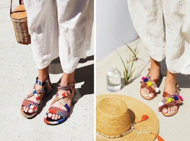 Орнаментированные сандалии