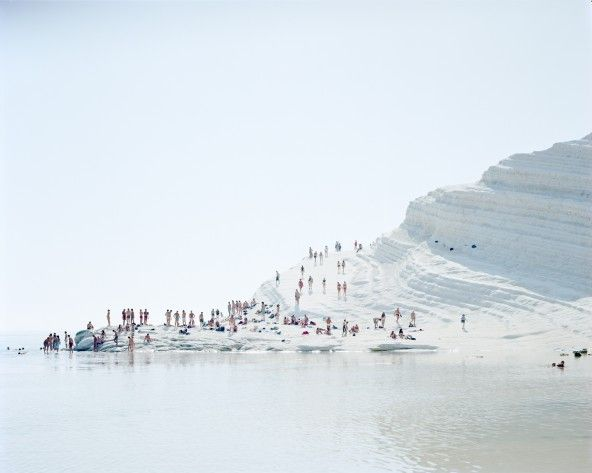 Large format photography - Landscapes and Figures by Massimo Vitali  #agrigento #sicilia #sicily