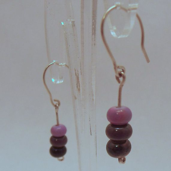 Handmade Purple Glass Beads with Sterling Silver by ALittleTrinket, £14.00