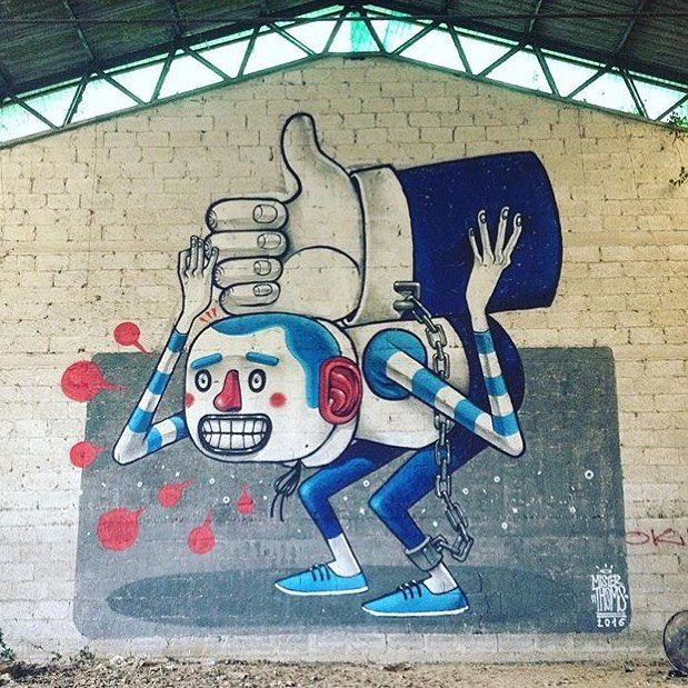 """behind_streetart: """"#streetartist: Mister Thoms #streetart title: Slave for feed where : #Ceprano #Italy created : #2016 #who is the #global #artist: Mr Thoms also known as Diego della Posta is supreme #Italian artist living in #Rome . THOMS! Its an onomatopoeic (I had to google this word) sound of something bouncing from one surface to another in a continuous motion a dynamic soft elasticity that allows it to move in many different places but always maintaining a cadence a pace that…"""